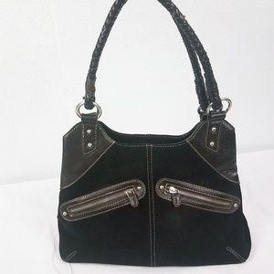 Coldwater Creek Black Leather Hobo Shoulder Bag